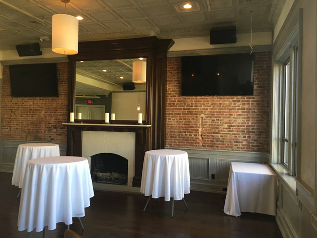 Upstairs Fireplace in Catering Room