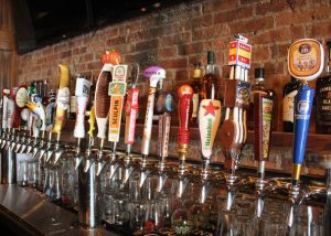 Large Assortment of Beers on Tap