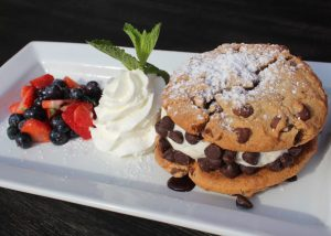 Ice Cream Cookie Sandwich with Mixed Berries