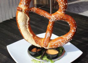 Big Bavarian Pretzel with 3 Dipping Sauces