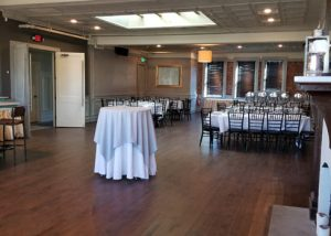Upstairs Private Party Room photo showing spaciousness of room.