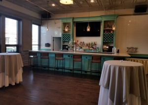 Upstairs Catering Room with Large Bar area overlooking Main Street.